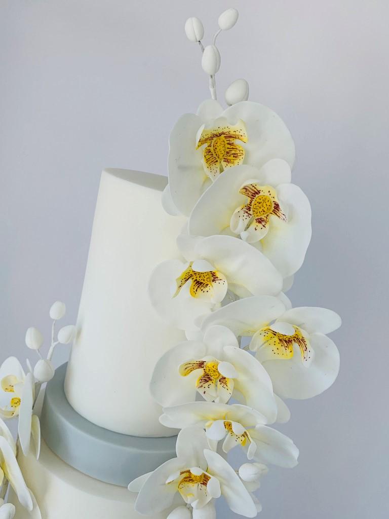 3 tier wedding cake, venue name, Kent